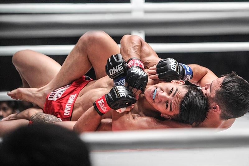 MANILA. Team Lakay's Danny Kingad advances to One Championship's Flyweight Grand Prix semi-finals after defeating Reece Mclaren via split decision Friday night, August 2 at the Mall of Asia Arena. (Photo by Jean Nicole Cortes)