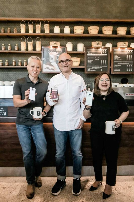 BOTTY FOUNDER and creator, Cary Gee; chief executive officer of Bo's Coffee, Steve Benitez; and chief operating officer of Bo's Coffee, Rachel Fallarme.
