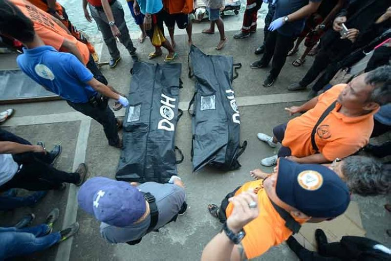 ILOILO. Two more bodies arrived Sunday, August 4, 2019, at the Iloilo-Ferry Terminal. The bodies were found floating in Iloilo-Guimaras Strait, a day after the sinking of three motorized bancas. (Leo Solinap/SunStar Philippines)
