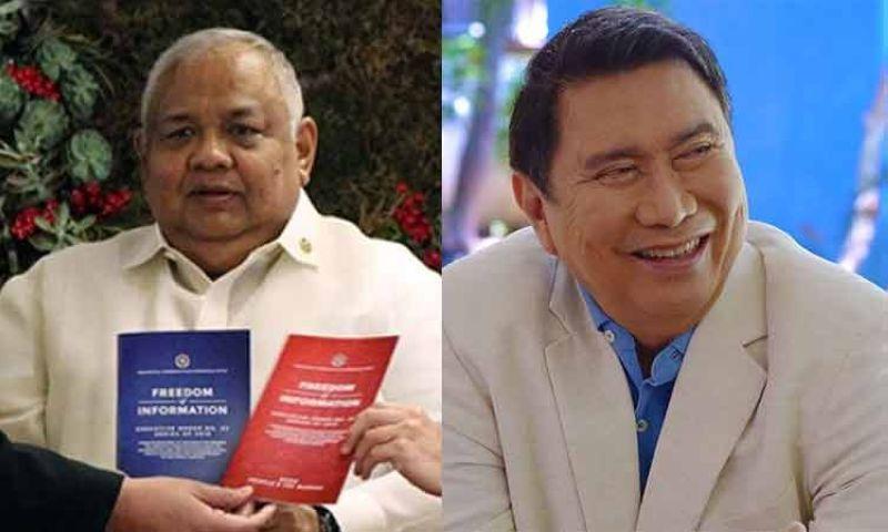 MANILA. Executive Secretary Salvador Medialdea (left) and Manila special envoy to Beijing Ramon Tulfo. (SunStar File/Tulfo's Facebook page)
