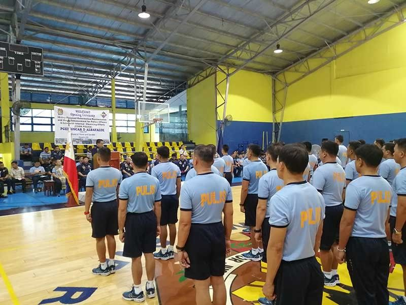 MANILA. Send-off ceremonies held on August 6, 2019 for the second batch of policemen, composed of 55 officers, who will undergo a 30-day restorative training in Subic. (Photo by Third Anne Peralta-Malonzo/SunStar Philippines)