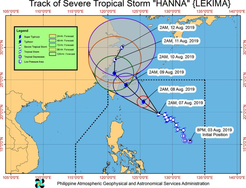 Track of Severe Tropical Storm