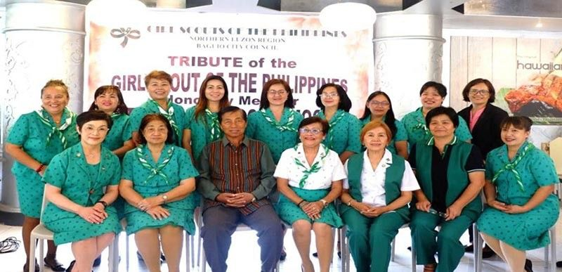 BAGUIO. The Girl Scouts of The Philippines (GSP)-Baguio City Council pays tribute to GSP honorary member Atty. Mauricio Domogan on July 22 attended by the GSP board members and staff, district field advisers and council credentialed trainers. (Contributed photo)