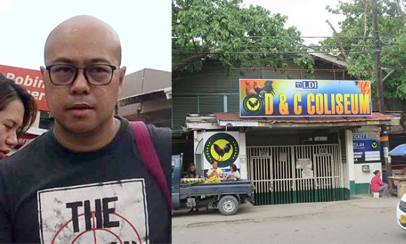 CEBU. Mandaue City Administrator Jamaal James Calipayan and façade of D&C Coliseum. (SunStar File)