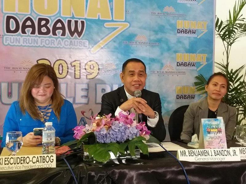 CONFIDENT. The Royal Mandaya Hotel (TRMH) general manager Benjamen Banzon, Jr., in a press conference Friday, August 9, 2019, says they are strengthening security control measures for the upcoming Hunat Dabaw 7 Bubble Run for a Cause. (Marianne L. Saberon-Abalayan)
