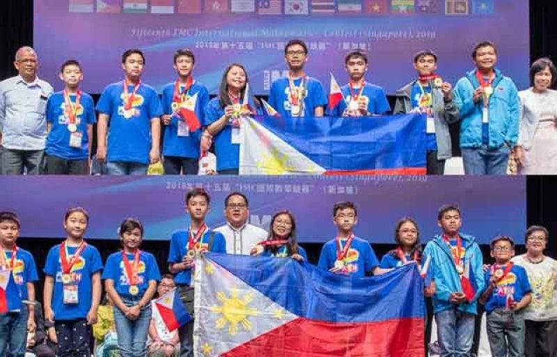 SINGAPORE. The Philippine delegation of young mathematicians who won 189 medals at the 15th International Mathematics Contest held in Singapore from August 2-5, 2019. (Photo courtesy of Mathematics Trainer's Guild (MTG) Philippines)