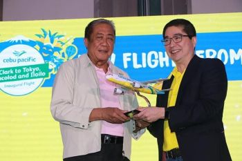 PAMPANGA. Cebu Pacific has opened new three new routes at the Clark International Airport -- Tokyo, Bacolod and Iloilo. The launching ceremony was led by Lance Gokongwei, president and chief executive officer of Cebu Pacific, and Department of Transportation Secretary Arthur Tugade. (Chris Navarro)