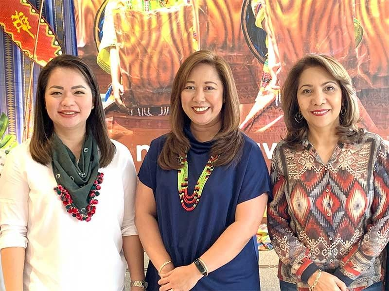 DAVAO. The GM with guests Cherry Al-ag and Councilor Myrna Ortiz.