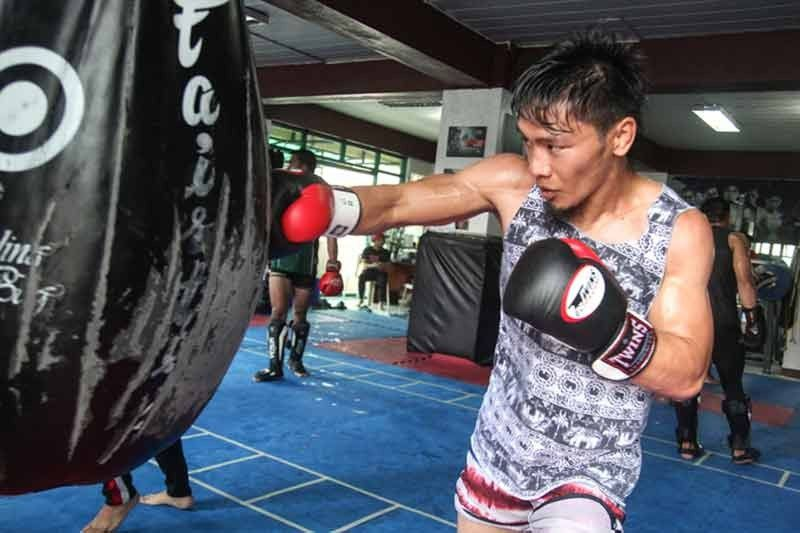 LA TRINIDAD. Team Lakay's Lito Adiwang trains in La Trinidad. Adiwang earned a bonus and inked a contract with One Championship after defeating Anthony Do during Rich Franklin's One warrior series in Singapore on August 6.  (Photo by Jean Nicole Cortes)