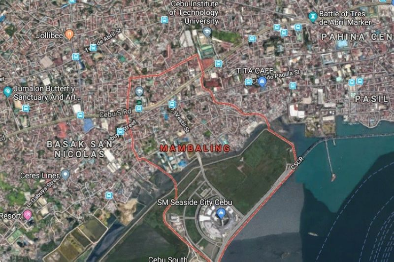 Barangay Mambaling, Cebu City map. (Google Maps)
