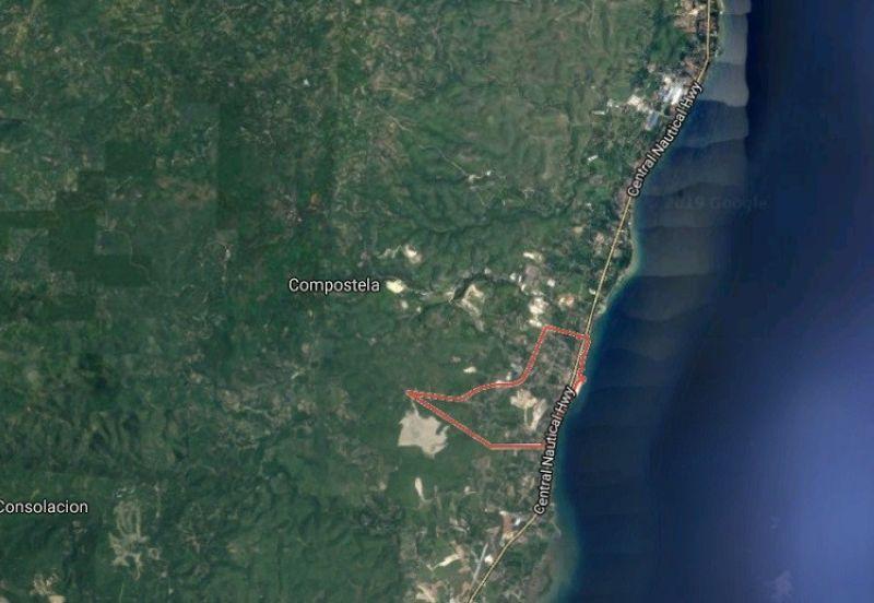 Mapa sa Barangay Poblacion, lungsod sa Compostela. (Google Maps)