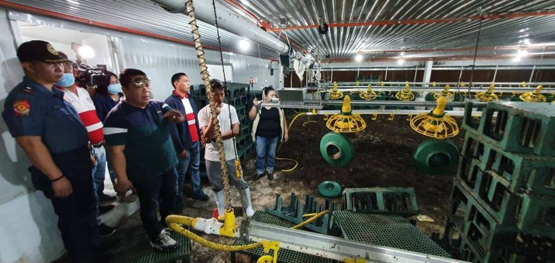 PAMPANGA. Bacolor Mayor Eduardo Datu, Major Louie Gonzaga and members of the Joint Field Monitoring and Inspection Team inspect poultry and piggery farms in several barangays in Bacolor due to fly infestation in the area. (Chris Navarro)