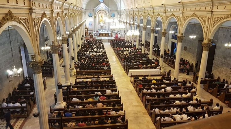 BACOLOD. Bacolod City Police Office assigns police officers at San Sebastian Cathedral and other local churches amid terror plot. (SunStar file photo)