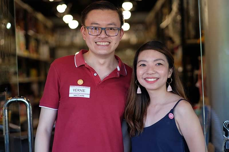 WHERE CREATIVE MINDS MEET. Business partners Kim Gillesania (right) and Verne Ahyong open Craft Story Cebu to serve as the launching pad for creative entrepreneurs who want to showcase their skills in art, and at the same time, earn a living from it. (Contributed photo)