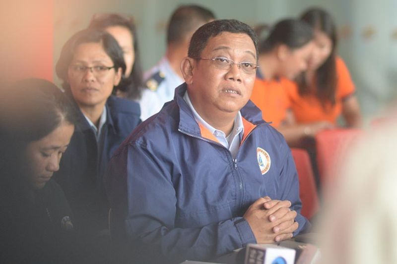 ILOILO. Commodore Victor Dela Vega, Philippine Coast Guard District Western Visayas district commander, in a press conference at the Iloilo Ferry Terminal command center on August 5, 2019. (Leo Solinap/SunStar Philippines)