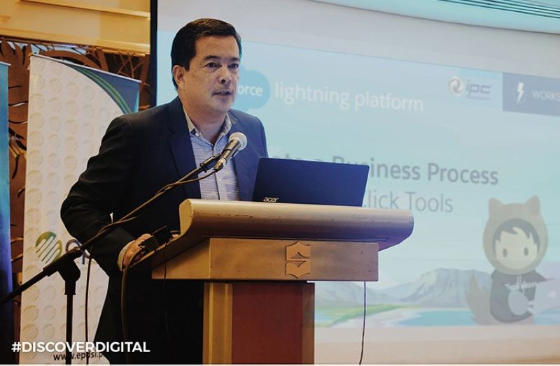 MANILA. IPC Chief Operating Officer David de Leon during an IPC event featuring Salesforce. (Contributed photo)