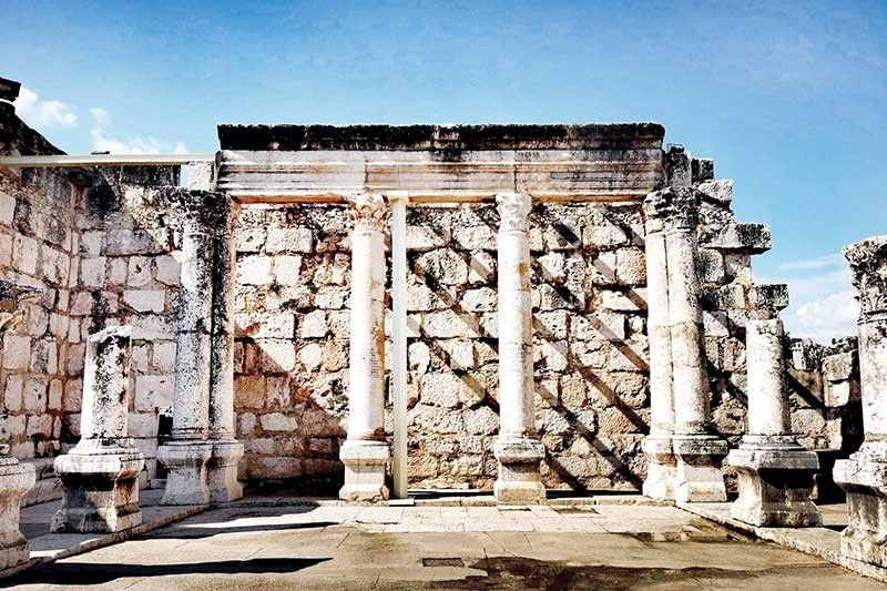 Temple ruins at Capernaum. (Photo by Grace M. Avanzado)