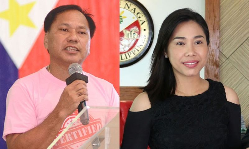 CEBU. City of Naga Mayor Valdemar Chiong (left) and his daughter, Vice Mayor Kristine Vanessa Chiong. (SunStar File)