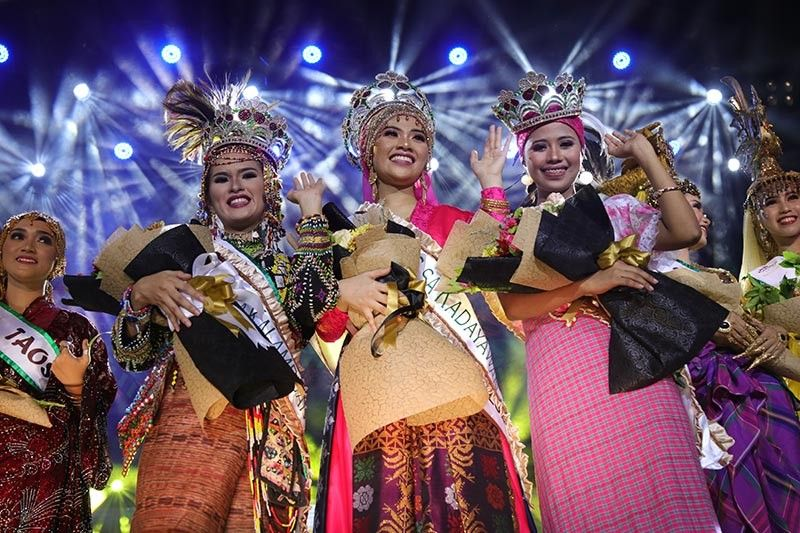 DAVAO. Hiyas sa Kadayawan. Nurainie Ampatuan of the Maguindanaon tribe is this year's Hiyas sa Kadayawan 2019. Her royal courts are Hiyas sa Panaghiusa - Coraima Hasim of Sama tribe, and Hiyas sa Kalambuan - Jessa Andian of the Bagobo Tagabawa. This year's Hiyas sa Kadayawan coronation was held Wednesday, August 14, 2019, at the RMC Petro Gaz Arena, Davao City. (Mark Perandos)