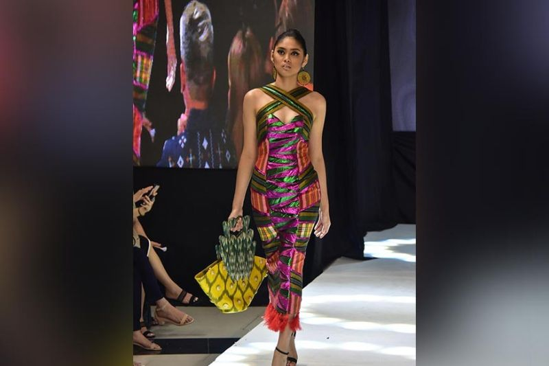 DAVAO. Mark Suralta Pabon's collection for the Luxe Apparel category. (Photo by Macky Lim)