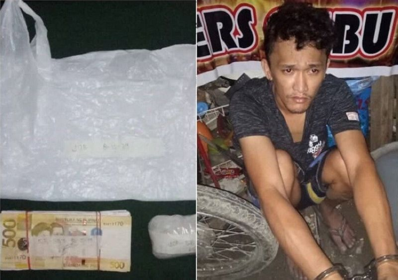 CEBU. Around P680,000 worth of illegal drugs were seized during a buy-bust operation in Sitio San Michael, Barangay Apas, Cebu City. (Photo courtesy of the Cebu City Police Office)