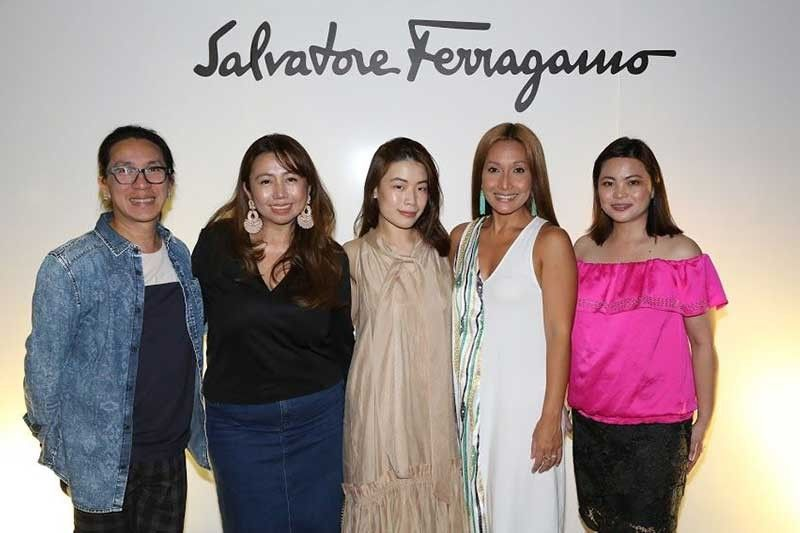 Stores Specialists Inc. visual merchandising manager Sunday Alcaraz, Danica Valdes-Lloren, SSI merchandise manager for Salvatore Ferragamo Riane Ng, SSI marketing communications head Mitch Suarez, and SSI events and partnerships manager Sylveth Ong-Iko.