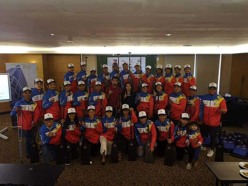 READY FOR THE WORLD. Members of the Philippine Accessible Disability Services Inc. Dragonboat team hold their sendoff ceremony at Quest Hotel for the World Championships in Thailand. (Contributed photo)