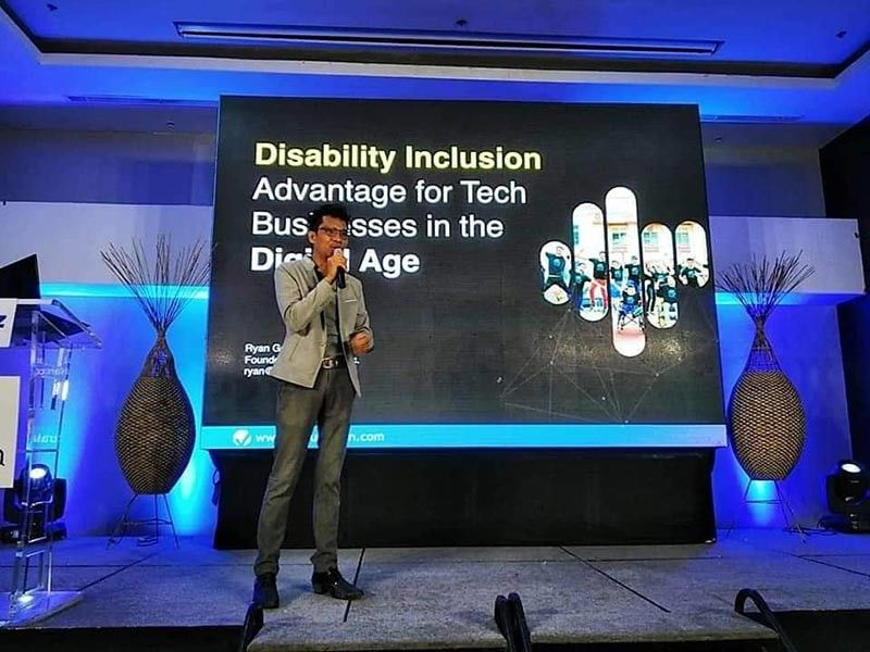 DAVAO. Virtualahan founder Ryan Gersavaurged the business community in Davao City to open opportunities for persons with disabilities (PWDs) through hiring them. (Photo from Ryan Gersava)