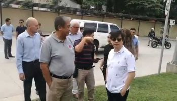 CEBU. In this photo grabbed from a July 6, 2019 video clip, Transportation Secretary Arthur Tugade (second from left) inspects proposed sites of the Metro Cebu Integrated and Intermodal Transport System together with Presidential Assistant Michael Dino (right) and consultants. (Photo grabbed from SunStar Cebu video)