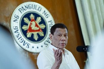 MANILA. In this file photo, President Rodrigo Duterte delivers his speech during the oath-taking ceremony of the newly elected officers of the League of Provinces of the Philippines at the Malacañan Palace on August 6, 2019. (Photo taken from Presidential Communications Facebook page)