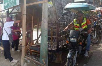 CEBU. Moabot sa 20 ka mga istraktura ang naguba ug lima ka motorsiklo ang nasakmit sa tulo ka oras nga clearing operation sa mga sidewalk sa Barangay Tabunok, Dakbayan sa Talisay. (Hulagway iya sa CT-Toda)