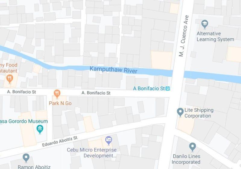 Kadalanan sa A. Bonifacio Street ug MJ Cuenco Avenue. (Google Maps)