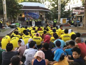 ROUNDUP. The Cagayan de Oro Police Office (Cocpo) round up some 239 people who were allegedly involved in various offenses through the police's