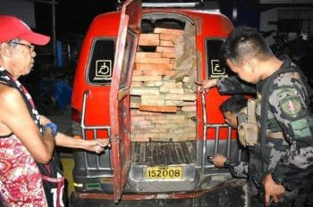 CARAGA regional police confiscate illegal logs worth more than 500,000 pesos in a series of sting operations in the region last week. (PRO-Caraga)