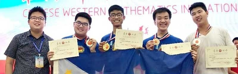 CHINA. The Philippine team  during the 19th China Western Mathematics Invitational (CWMI). (Contributed Photo)
