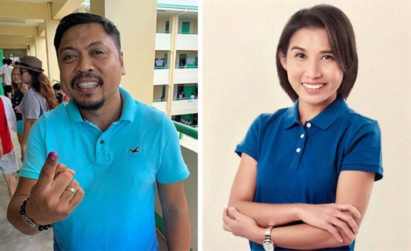 CEBU. Cebu City Councilor Philip Zafra (left) and Atty. Marie Velle Abella. (SunStar File/Abella's Facebook page)