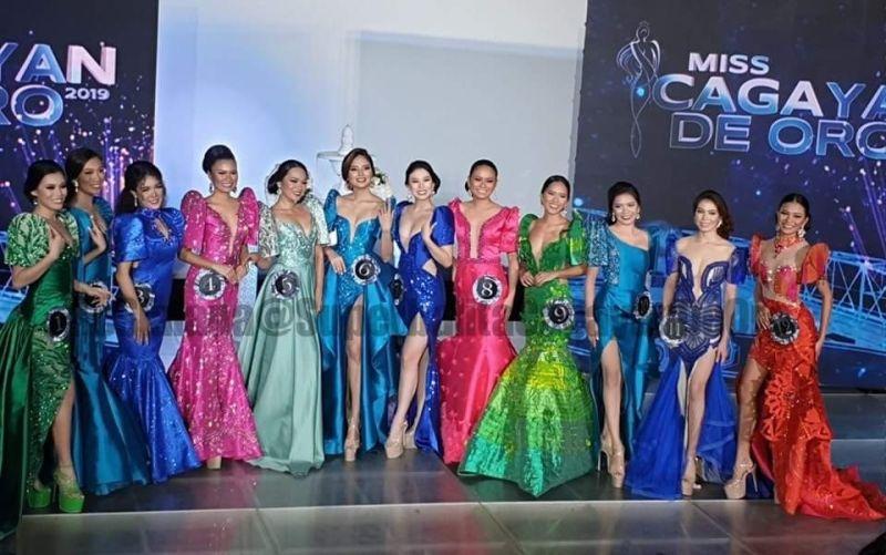 CAGAYAN DE ORO. Ang mga kandidata sa Miss Cagayan de Oro 2019 atol sa Long Gown competition nga gipahigayon sa Megascreen Cinema sa SM Downtown Premier ning siyudad sa Cagayan de Oro. (Kris C. Sialana)