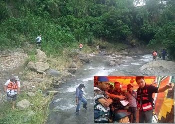 BENGUET. Volunteers on Monday, August 19, 2019, conduct search and rescue operations along Gayasi River in Wangal, La Trinidad, Benguet for two teens who went missing last week. (Lauren Alimondo)