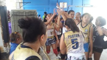 CAGAYAN DE ORO. The Corpus Christi spikers barely make it to the Mindanao qualifying stage of the Philippine Volleyball Federation Under-18 girls tourney on Saturday, August 17, 2019 at St. Mary's covered court in Cagayan de Oro City. (Lynde Salgados)