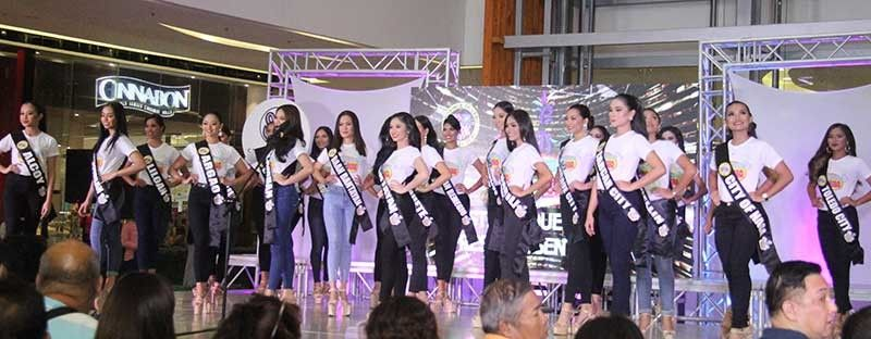 POSING FOR PRIDE. The candidates of Pasigarbo sa Sugbo Festival Queen 2019 pose during their formal introduction at SM Seaside City in Cebu City on Tuesday, Aug. 20, 2019. The coronation night will be on Friday, Aug. 23. (SunStar Photo/Amper Campaña)