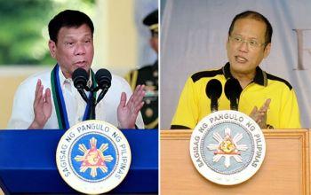 President Rodrigo Duterte and former President Benigno Aquino III (SunStar File)