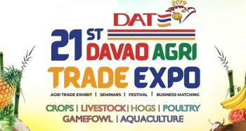 DAVAO. Some 200 exhibitors and 10,000 participants from all over Mindanao are expected to join the Davao Agri Trade Expo (Date) 2019 on September 26-28 at the SM Convention Center to achieve inclusive agriculture in the area. (Photo from Date 2019 website)