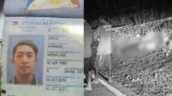 CEBU. Lalakeng gituohang gi-salvage sa Barangay Cansomoroy, Balamban nailhan na pinaagi sa mga ID card nga nakuha sa kapulisan sa SUV nga gisunog ug gihulog sa laing barangay sa samang lungsod. (Hulagway tampo sa Balamban police)