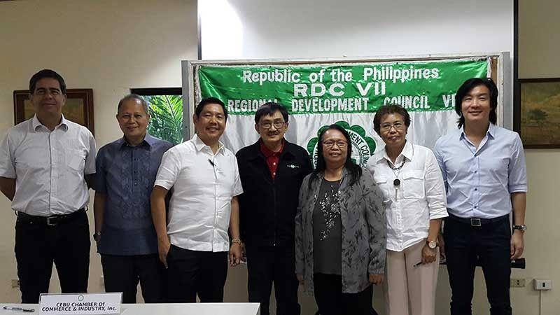 From left, Gordon Alan Joseph, Abundio Gultiano Jr., Robert Go, Virgilio Espeleta, Fe Walag, Evelyn Castro and Kenneth Cobonpue (Contributed Photo)