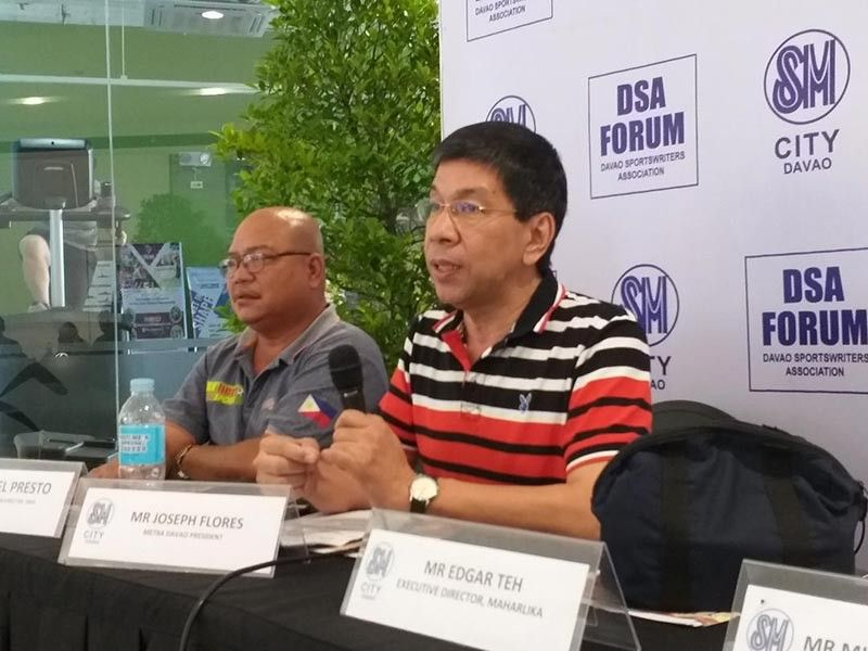 """DAVAO. Metro Davao Tenpin Bowlers Association, Inc. president Joseph Flores says during the Davao Sportswriters Association (DSA) Forum at The Annex of SM City Davao Thursday, August 22, 2019 that Dabawenyos are excited but nervous to play against four-time World Cup champion Rafael """"Paeng"""" Nepomuceno. (Marianne L. Saberon-Abalayan)"""