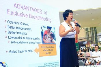 CAGAYAN DE ORO. More than a hundred mothers from all over Cagayan de Oro City gathered at the event center of SM CDO Downtown Premier to participate in the global synchronized breastfeeding event to promote the normal practice of breastfeeding. (Jo Ann Sablad)