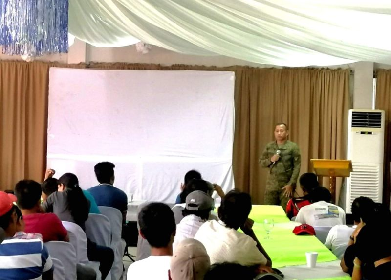 NEGROS. 79th Infantry Battalion Executive Officer Major Dranreb Canto (standing) speaks at the orientation and planning conference held at the Northland Resort Hotel in Manapla town on Thursday, August 22, 2019. (Contributed Photo)