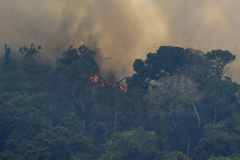 BRAZIL. Fire consumes the jungle near Porto Velho, Brazil, Friday, August 23, 2019. Brazilian state experts have reported a record of nearly 77,000 wildfires across the country so far this year, up 85 percent over the same period in 2018. Brazil contains about 60 percent of the Amazon rainforest, whose degradation could have severe consequences for global climate and rainfall. (AP)