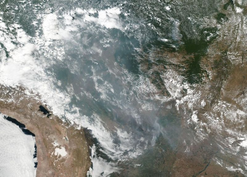 BRAZIL. This satellite image provided by NASA shows the fires in Brazil on August 20, 2019. As fires raged in the Amazon rainforest, the Brazilian government on Thursday denounced international critics who say President Jair Bolsonaro is not doing. (AP)