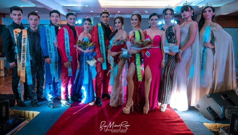 BAGUIO. The grand winners of the King and Queen of Tiara's 2019.